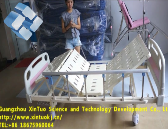 Cheap Price 2 Funcions Ce/ISO Medical Electrical Hospital Bed with IV Pole