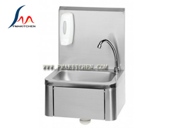 Handless Stainless Steel Knee Operated Commercial Sink, Knee Press Handwash Basin pictures & photos
