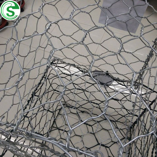 Hot Galvanized Stone Fencing High Strength Gabion Fence for River