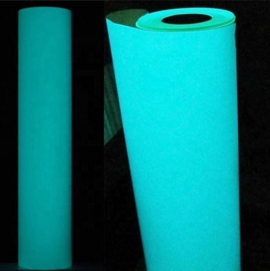 Blue Glowing in the Dark Heat Transfer Vinyl Iron-on T-shirts Textile Decoration