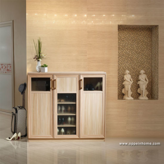 China Oppein Wooden Furniture Shoes Cabinet With Glass Door Xg11202