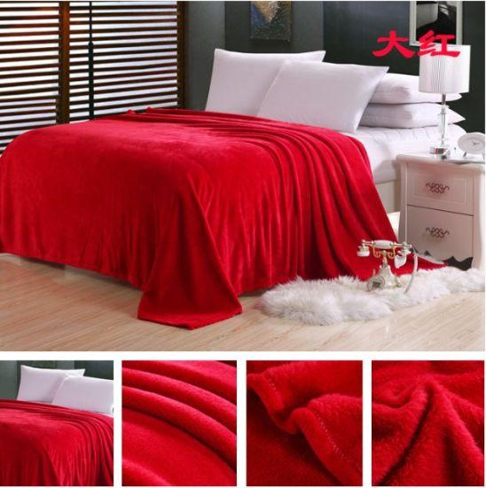 Coral Fleece Blanket in Solids