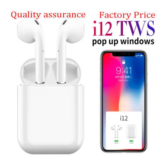 I12 Tws Touch Control Mini 1: 1 Air Wireless Bluetooth 5.0 Earphones Pods Headset for Ios Smart Phone Xiaomi Huawei Oppo Vivo