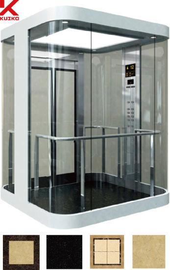 Attirant Sightseeing Elevator With Double Door Slides