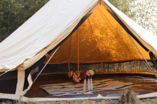 Outdoor Fireproof Canvas Bell Tent 5m Teepee Tent & China Outdoor Fireproof Canvas Bell Tent 5m Teepee Tent - China ...