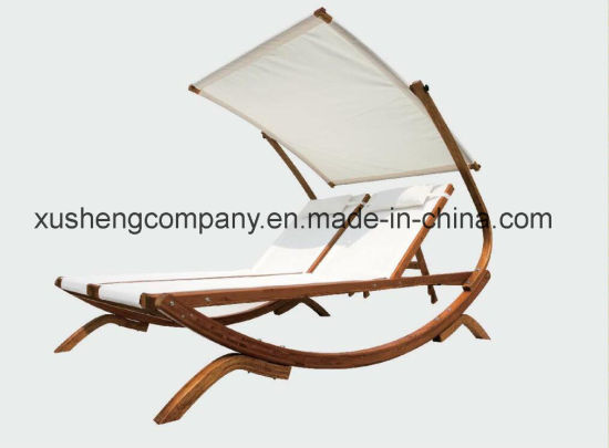 Sunshade Wood Frame Hammock Double Chair pictures & photos