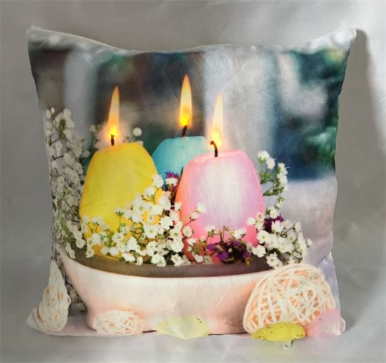 Hot Selling Easter Decorative Printed LED Light Cushion for Holiday Decor