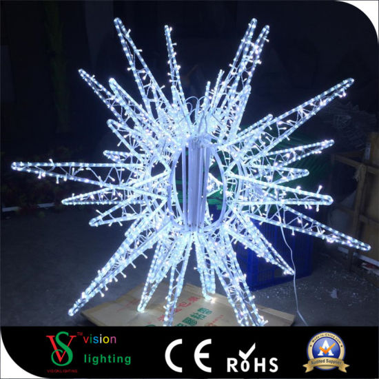 3d outdoor christmas decorations rope motif lights star