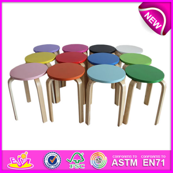 Pleasant Colorful Wooden Kids Chair Toy High Quality And Best Seller Wooden Stool Chair Wooden Toy Mini Chair For Children W08F032 Ncnpc Chair Design For Home Ncnpcorg