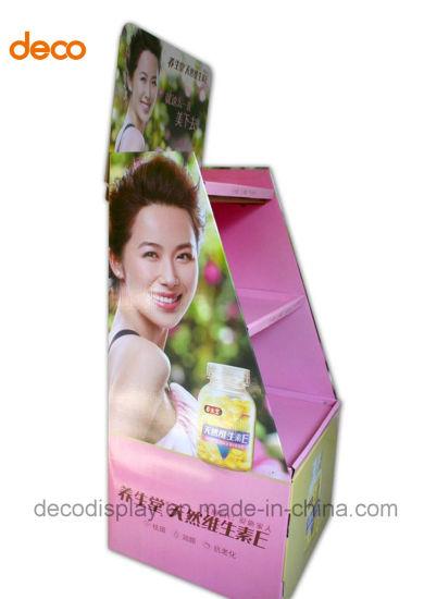 Wholesale Carton Material Pop Display Shelf with Header