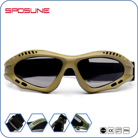 ded73f9fa718e Military Outdoor Sport Glasses Balistic Tectical Goggles TPU Frame  Polycarbonate Smoke Lens for Shooting Army Eye