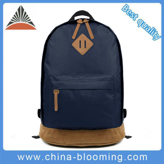 Fashion Custom Outdoor Travel Blue Polyester Laptop School Backpack Bag  pictures   photos cd91a2d6462e3