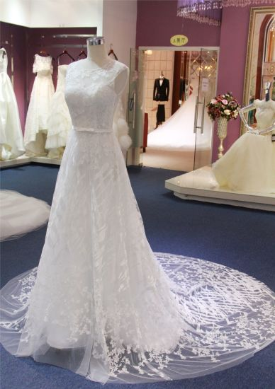 A Line Lace Beach Bridesmaid Wedding Bridal Gowns Dresses pictures & photos
