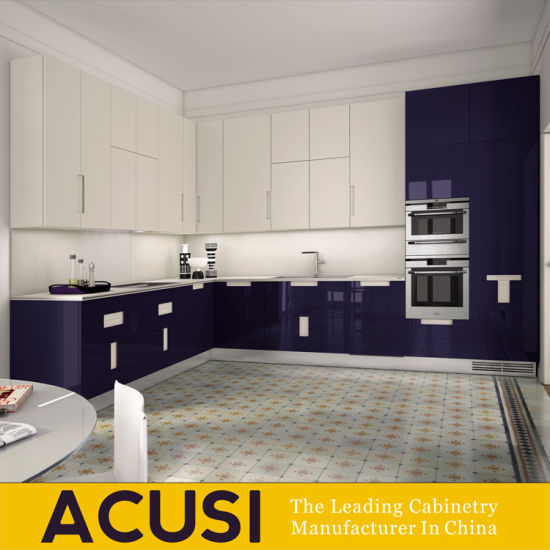 Modern Design Particle Board Lacquer Home Furniture Modern Wood Kitchen Cabinets (ACS2-L142)