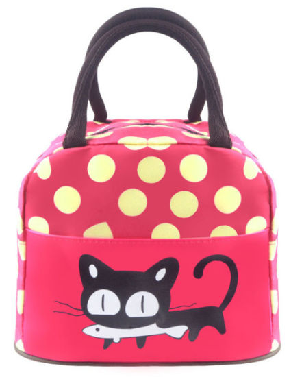 China Promotional Wave Point Bag Girls Lunch Bag Lady′s