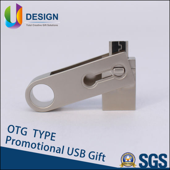 Smart Phone OTG USB Flash Drive Colorful Logo Promotional OTG 4GB USB Stick Flash Memory Drive pictures & photos