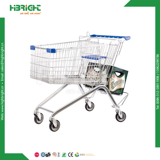 Zinc Plated Large Shopping Trolley Shopping Cart for Supermarket pictures & photos