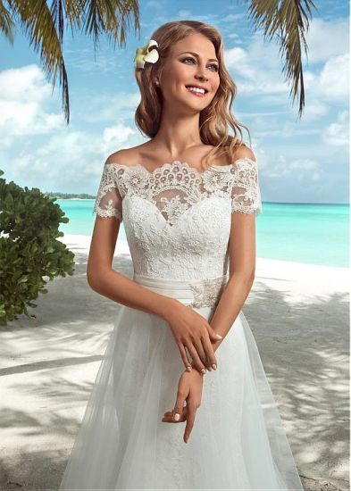 Lace Bridal Dress Beach Country Beach Tulle Wedding Gowns A41 pictures & photos