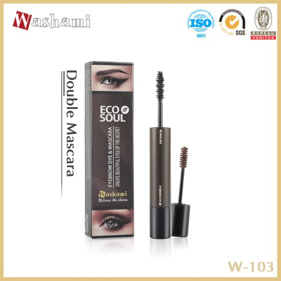 Washami Double Size Waterproof Eyebrow Dye & Fiber Mascara