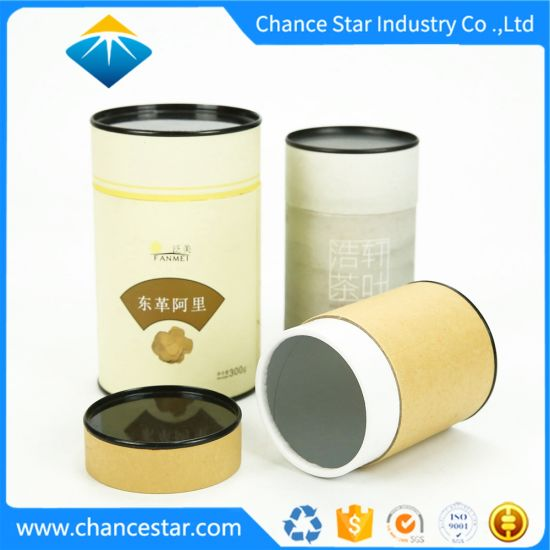 Custom Printing Tea Packaging Decorative Cylinder Gift Box