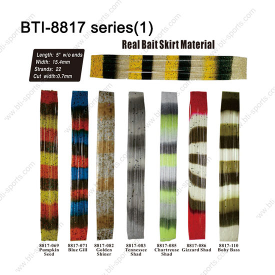 "Most Popular Color Choice for Fly Tying Material Bti-8817 5"" Real Bait Skirt Material pictures & photos"