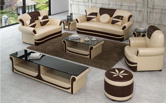 China Design Living Room Leather Sofa Set 3 2 1 Seat Luxury Leather Sofa Living Room Furniture China Sofa Furniture
