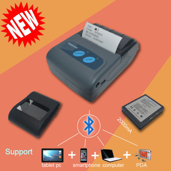 58mm Portable Mobile Bluetooth Thermal Receipt Printer