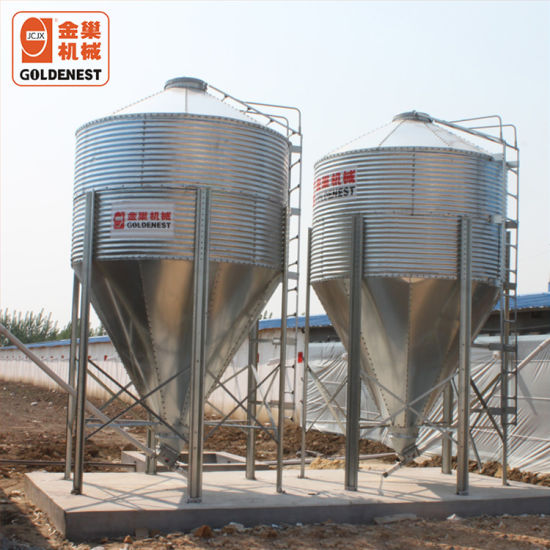 Poultry Farm Equipment Galvanized Feed Silo Use for Poultry House