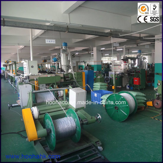 TPE Cable Wire Extrusion Line pictures & photos