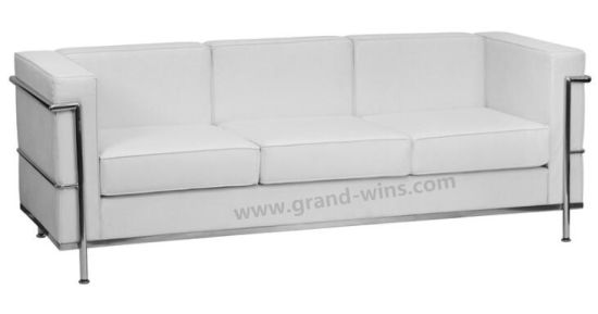 Factory Wholesale Modern Stainless Frame Leather LC Sofa for Office (LC2)