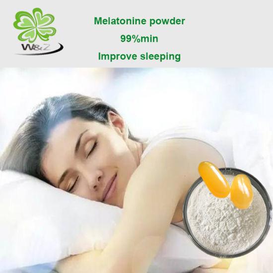 China Supply Melatonin Powder Improving Sleeping CAS 73-31-4