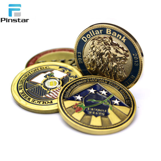 China Cheap Price Round Soft Enamel Souvenir Token Coin pictures & photos