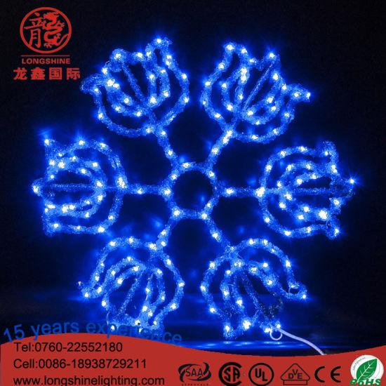 led fairy snow flake glue grip lighting christmas decoration light