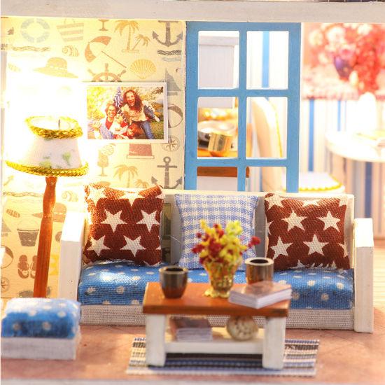2 Floor 3D Puzzle Dream DIY House Dollhouse Miniatures 2019+Miniature  Wooden Dollshouse