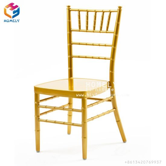 Stacking Aluminum Iron Steel Hotel Restaurant Banquet Wedding Tiffany Chiavari Chair pictures & photos