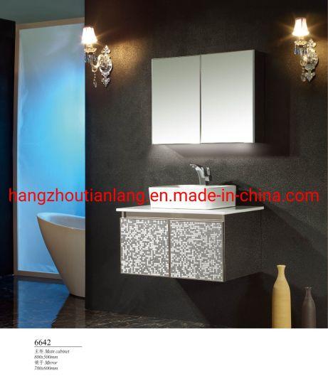 Mosaic Stainless Steel Modern Luxury Bathroom Cabinets Metal Vanities