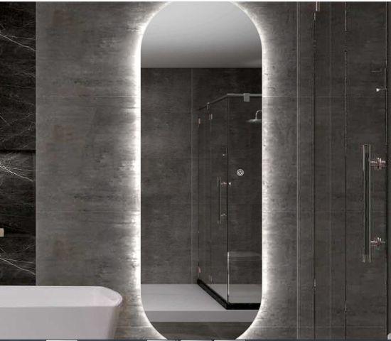 Silver Bathroom Wall Glass Furniture Dressing Full Length LED Mirror