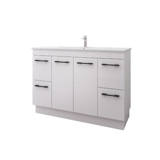 Simple Fashion Large Capacity Floor Mounted Bathroom Vanity with Ceramic Basin