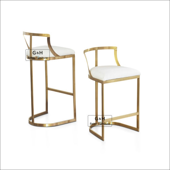 Wholesale Price Modern Luxury Stainless Steel Unique Used Bar Stool