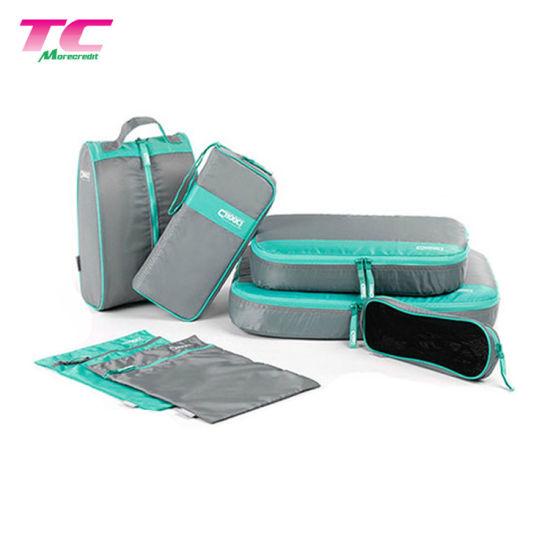 Portable Business Travel Storage Bag Grey Cosmetic Shoe Bag Set