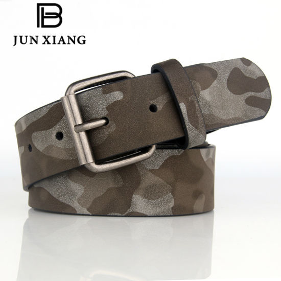 Fashion Men′s Camouflage PU Military Belt pictures & photos