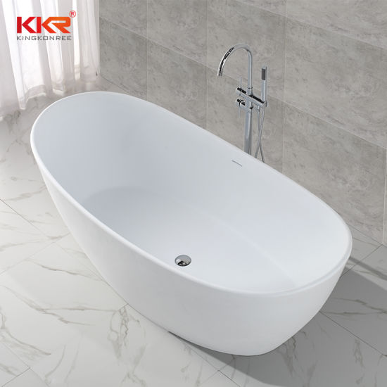 china oval shaped solid surface freestanding bathtub to dubai
