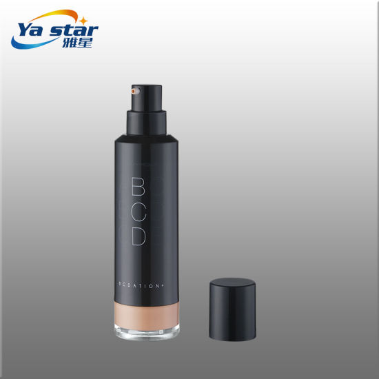 30ml 36ml Injection Black Color ABS Airless Cosmetic Bottle