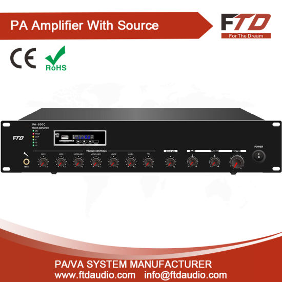 Public Address 120W Economy Mixer Ampifier with&MP3&FM&SD&Bluetooth