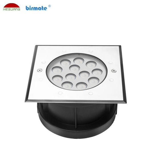 DMX512 Control 12W 24V 316L Stainless Steel LED Ground Light Pool Lighting
