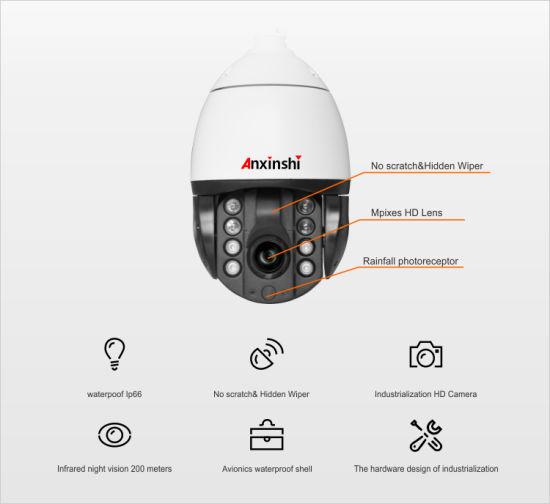 5MP Starlight Imx335 Poe Network 30fbs Star Vision IR PTZ Camera