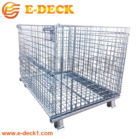 Foldable Collapsible Heavy Wire Mesh Storage Cage Container