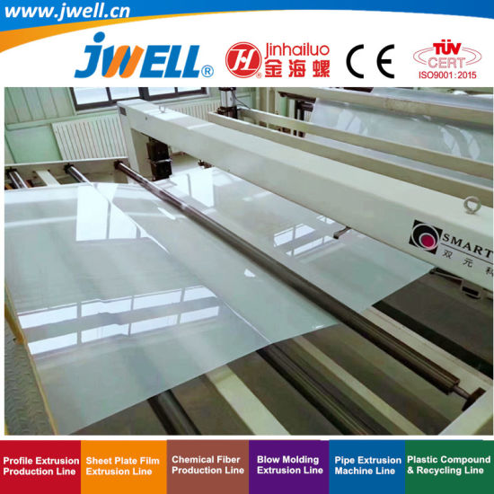 Jwell-EVA Plastic Extra-Width Soundproof|Waterproof Roll Sheet Recycling Agricultural Making Extrusion Machine