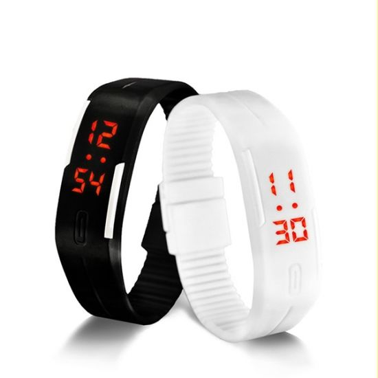 Unisex Rubber Strap LED Display Digital Watch pictures & photos