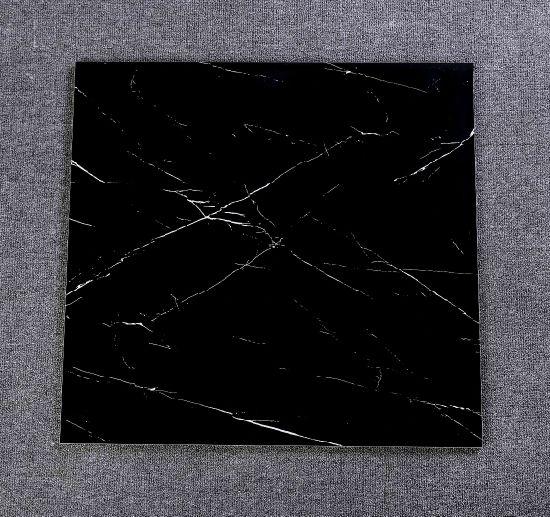 Hot Design Black Marble Polished Glazed Porcelain Bathroom Wall and Floor Tile